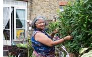 Hilda in the garden