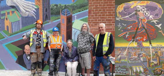The restoration of the Nuclear Dawn mural