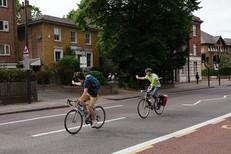 adults cycling