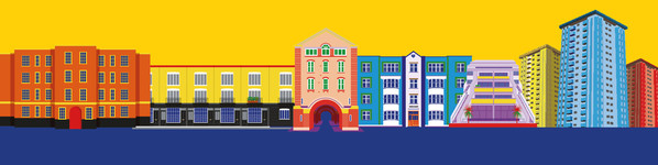 Illustrations of Camden Council homes