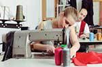 people sewing