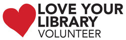 Love your library volunteer logo
