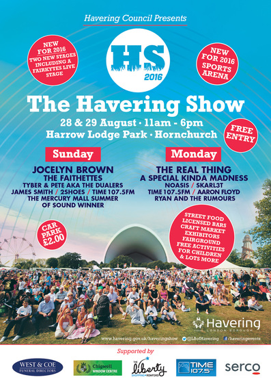 Havering Show 2016 poster