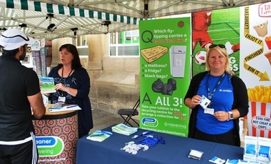 Community Green and Clean-up stall