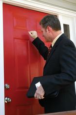 Tenancy Fraud man knocking on door