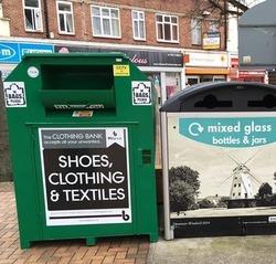 textile bin in Romford
