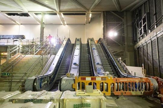 New Elizabeth line escalators