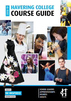Havering College course guide 2018