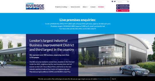London Riverside BID website home page