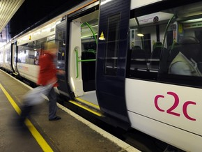 c2c train at a station
