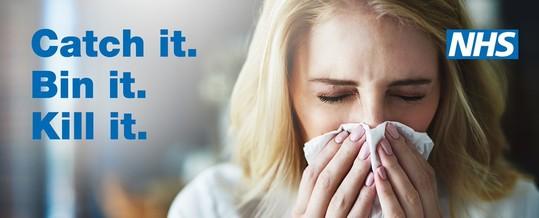 NHS flu banner