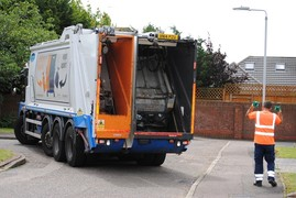 waste recycling lorry