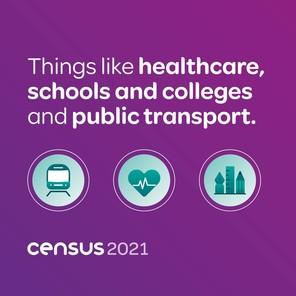 Census 2021 square ad block