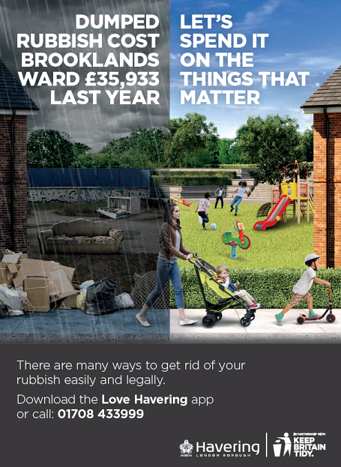Brooklands waste poster March 2021