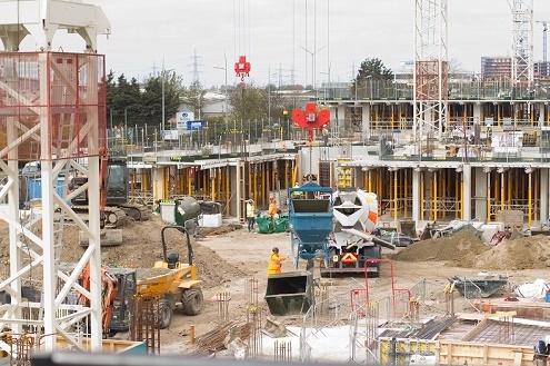 Wates building site April 2021