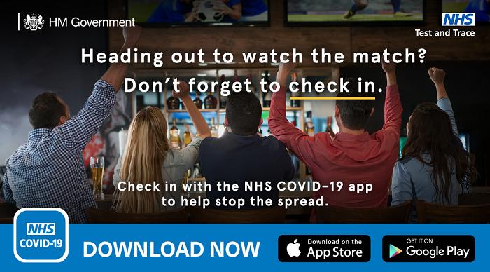 Covid and football EUROS use app