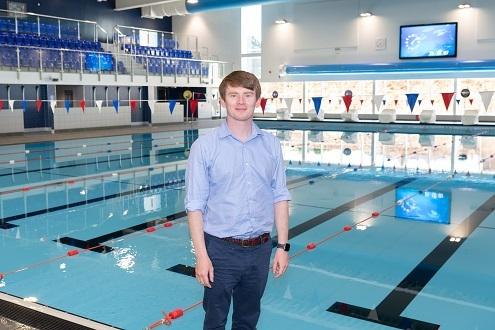 Leader by pool at Harrow Lodge Leisure ctr