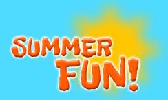 Summer fun logo blue