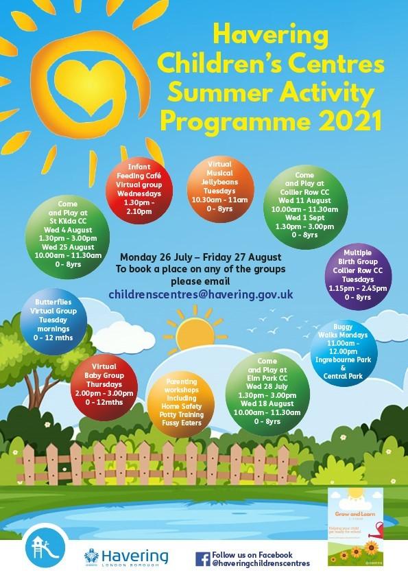 children's centre activities summer 2021 v2