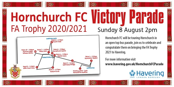 Hornchurch FC Aug parade updated banner