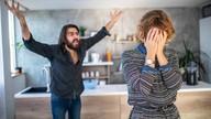 Man shouting at a woman
