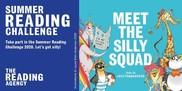 Summer Reading Challenge branding with #meetthesillysquad
