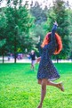 Girl dancing in park