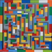 Pattern of Lego blocks