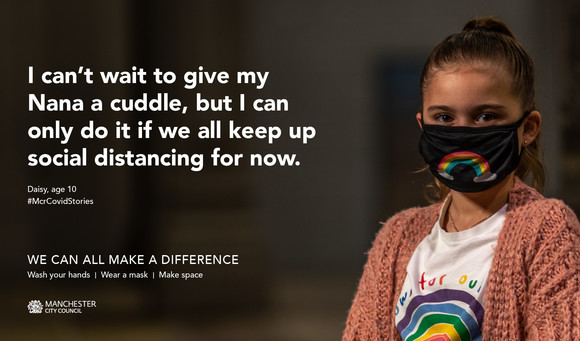 We can all make a difference: Wash your hands, wear a mask, make space.
