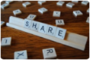 Share scrabble letters