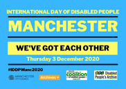 International day of disabled people flyer