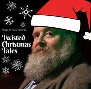 Gav Cross in a santa hat for Xmas tales