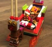 Lego Santa in sleigh