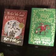 The girl who saved Christmas and Father Christmas' fake beard books