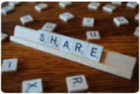 Share scrabble pieces