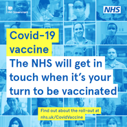 The NHS will be in touch - vaccination poster