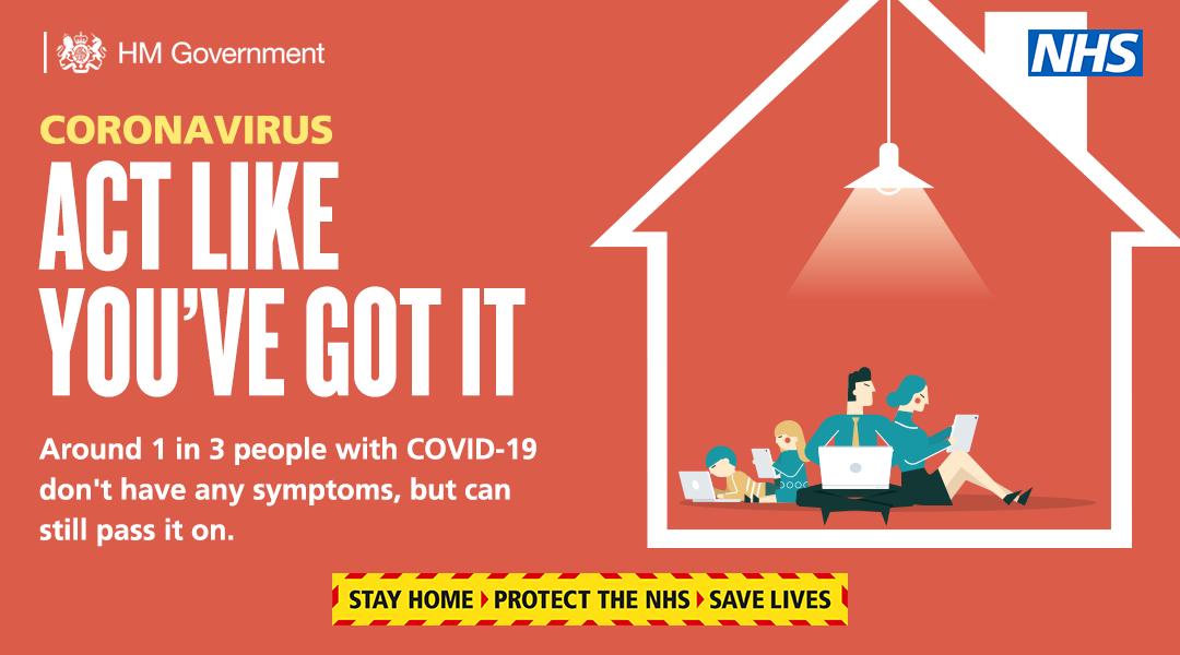 Coronavirus - act like you've got it
