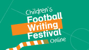 Children's football writing festival poster