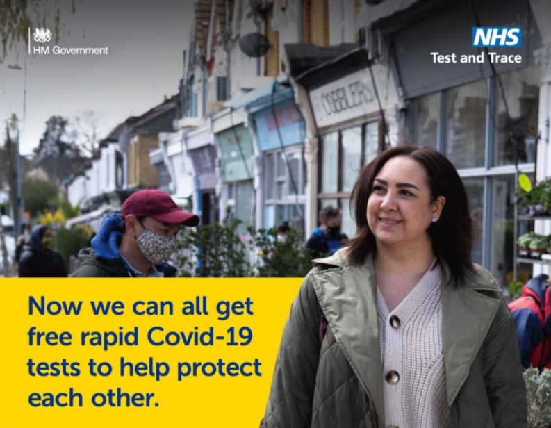 Now we can all get free rapid Covid-19 tests to help protect each other.