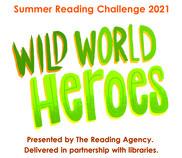 Wild World Heroes Summer reading challenge banner