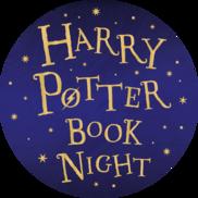 Harry Potter Book Night on blue starry background