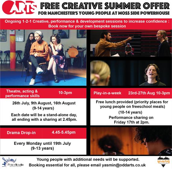 Odd Arts summer activities poster