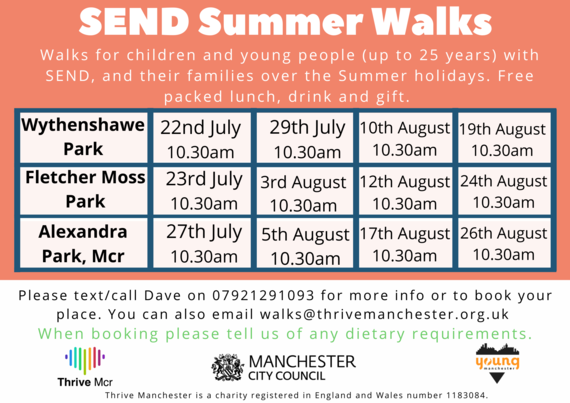 Summer SEND Walks listing