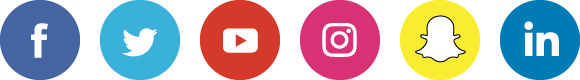 Facebook, Twitter, YouTube, Instagram, Snapchat, or LinkedIn