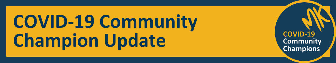 COVID-19 Community Champion Update