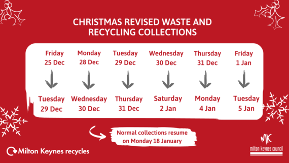 Christmas waste collection days
