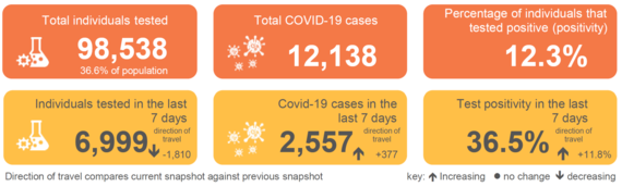 COVID-19 Snapshot as of 6th January 2021 (data reported up to 3rd January 2021)