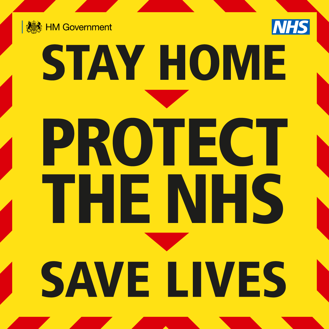 Stay home, protect the NHS, save lives stock image
