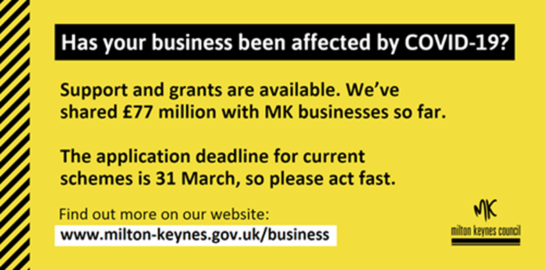 Businesses: apply for grants by 31 March