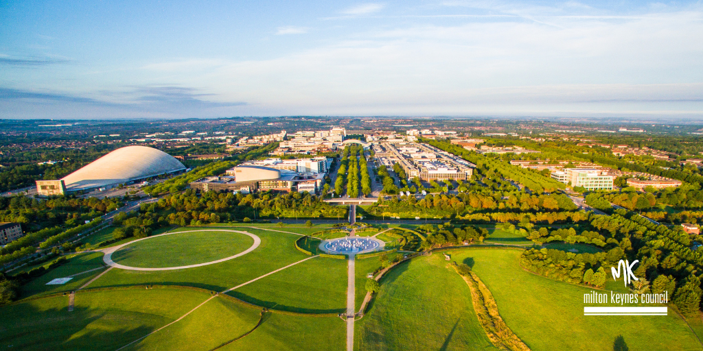 Ariel photo of Milton Keynes Campbell Park